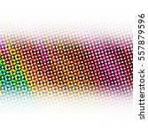 colorful rainbow halftone dots...   Shutterstock . vector #557879596