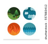 four element | Shutterstock .eps vector #557883412