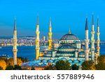 the blue mosque   sultanahmet... | Shutterstock . vector #557889946