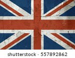british flag on old wall | Shutterstock . vector #557892862