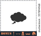 thought bubble icon flat.... | Shutterstock .eps vector #557894968