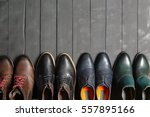 leather men's shoes | Shutterstock . vector #557895166