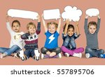 children smiling happiness... | Shutterstock . vector #557895706