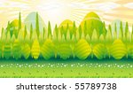 trees  hills and fields in the... | Shutterstock .eps vector #55789738