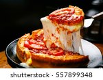 chicago style deep dish cheese... | Shutterstock . vector #557899348