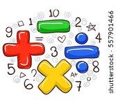 vector illustration of math... | Shutterstock .eps vector #557901466