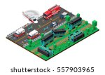 train wreck isometric design... | Shutterstock .eps vector #557903965