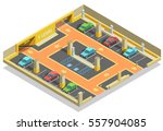 parking underground isometric... | Shutterstock .eps vector #557904085
