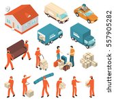 moving company professional... | Shutterstock .eps vector #557905282