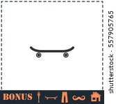 skateboard icon flat. simple... | Shutterstock .eps vector #557905765