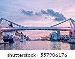 europa bridge at the entrance...   Shutterstock . vector #557906176