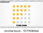 5 star rating icon vector... | Shutterstock .eps vector #557908066