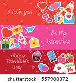 valentine s day romantic... | Shutterstock . vector #557908372