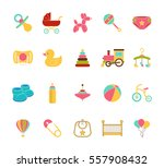 baby icons. doodle elements set.... | Shutterstock . vector #557908432