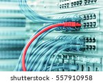 ethernet cable on network... | Shutterstock . vector #557910958