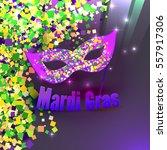 carnival mardi gras confetti... | Shutterstock . vector #557917306