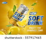 soft drink lemon flavor... | Shutterstock .eps vector #557917465