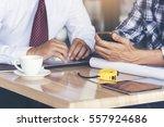smart engineer and businessman... | Shutterstock . vector #557924686
