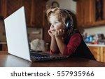 happy beautiful child in... | Shutterstock . vector #557935966