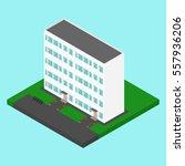 vector isometric building.... | Shutterstock .eps vector #557936206