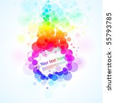 colorful glowing bubbles... | Shutterstock .eps vector #55793785