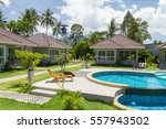 houses  deck chair and... | Shutterstock . vector #557943502