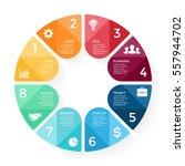 vector circle arrows... | Shutterstock .eps vector #557944702