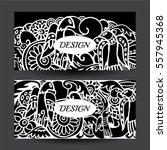 stock vector cartoon hand draw... | Shutterstock .eps vector #557945368