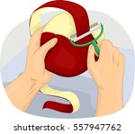 cropped illustration of a man... | Shutterstock .eps vector #557947762