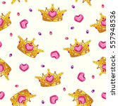 seamless pattern with fancy... | Shutterstock .eps vector #557948536