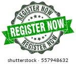 register now. stamp. sticker.... | Shutterstock .eps vector #557948632