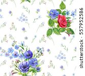 floral square seamless pattern  ... | Shutterstock . vector #557952586