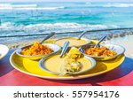the fish curry is the most... | Shutterstock . vector #557954176