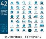 mega set and big group ... | Shutterstock .eps vector #557954842