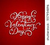 white lettering happy... | Shutterstock . vector #557954896
