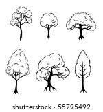 set of 6 trees