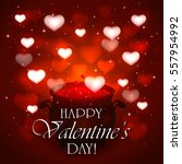 valentines day background  love ... | Shutterstock . vector #557954992