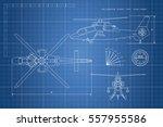 engineering drawing of... | Shutterstock . vector #557955586