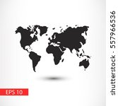 world map illustration vector | Shutterstock .eps vector #557966536