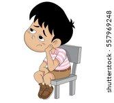 cute kid boring everything... | Shutterstock .eps vector #557969248