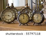 Collection Of Vintage Alarm...