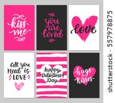 happy valentines day typography ... | Shutterstock .eps vector #557978875