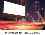 left blank billboard on light... | Shutterstock . vector #557983498