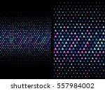 dark abstract geometric... | Shutterstock .eps vector #557984002