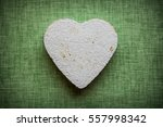 heart made of paper mache on a... | Shutterstock . vector #557998342