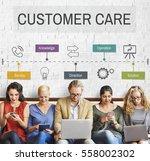 customer care service operation ... | Shutterstock . vector #558002302