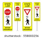 in street pedestrian crossing... | Shutterstock .eps vector #558003256