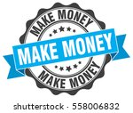 make money. stamp. sticker.... | Shutterstock .eps vector #558006832