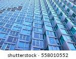 bay windows in a modern... | Shutterstock . vector #558010552