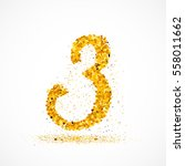 beautiful card with number 3... | Shutterstock .eps vector #558011662